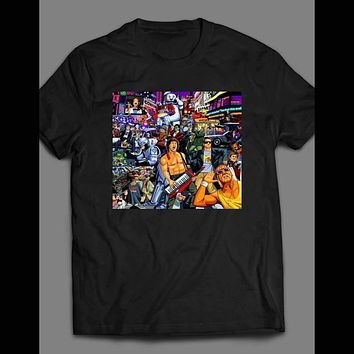 CLASSIC 80'S POP CULTURE COLLAGE SHIRT