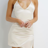 Tanya Slip Dress - Champagne
