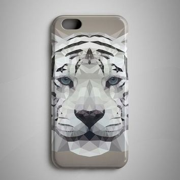 White Tiger Geometric Art iPhone 8 Plus Case