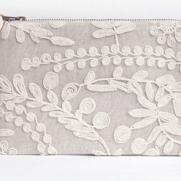Lace Bridesmaid Clutches, Lace Wedding Clutches , Wedding Gift Idea, Bridal Clutch