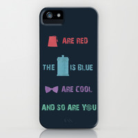Doctor Who iPhone & iPod Case by Sally  Diamonds