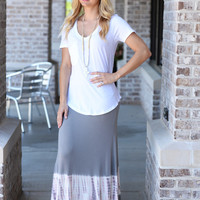 Walk In The Sand Tie Dye Maxi Skirt