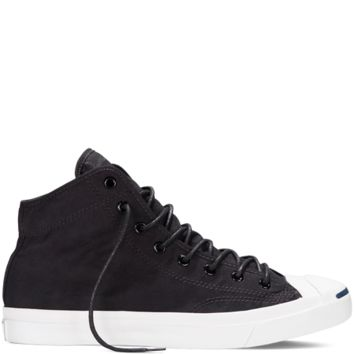 Converse Jack Purcell Brushed Cotton Black Mid