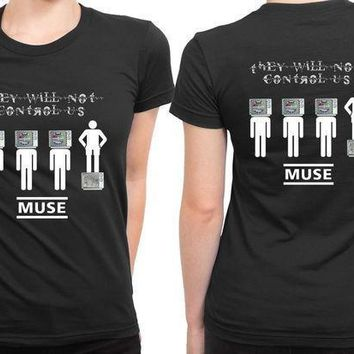 Muse They Will Not Control Us 2 Sided Womens T Shirt