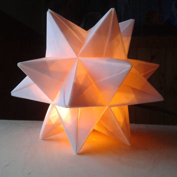Best origami lamp products on wanelo for Paper star lamp