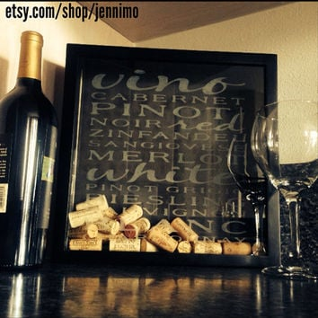 Shadow Box Wine Cork Holder Frame