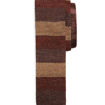 Tonal Color-Block Knit Tie - Brooks Brothers
