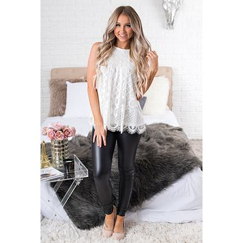 Amazing Lace Top (White)