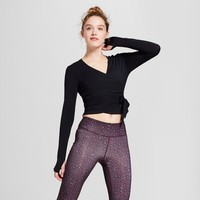 Women's Long Sleeve Wrap Top - JoyLab™