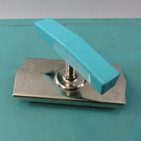 Edlund Jar Opener 1950s Miracle Kitchen Gadget Turquoise Handle