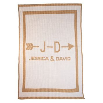 Personalized Cupids Arrow Couples Blanket