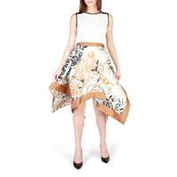 Rinascimento Beige Sleeveless Floral Print Dress