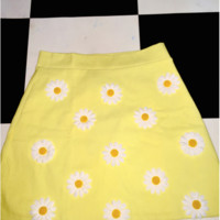 SWEET LORD O'MIGHTY! DAISY MINI SKIRT IN YELLOW