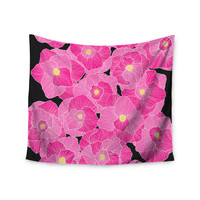 "Skye Zambrana ""In Bloom Pink"" Floral Wall Tapestry"