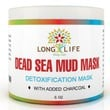 Premium SPA Quality Dead Sea Mud Mask, Detoxification Facial Mask, 6oz, with Added Charcoal for Extra Help to Pull Out Dirt and Toxins, Absorbs Excess Oil, Leaving Skin Clean and Smooth