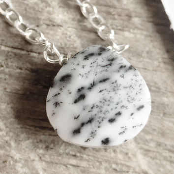 "26 - Dendritic Opal 18"" Sterling Chain - Flash Sale Pricing"