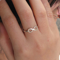 Infinity Ring - Personalized Ring - Silver Infinity Ring - Promise Ring - Unique Gift