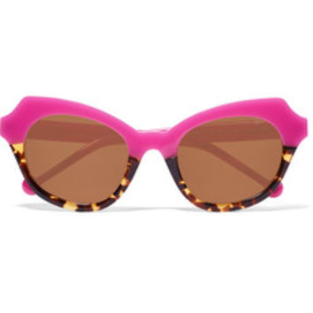 Preen by Thornton Bregazzi Beatrix round-frame acetate sunglasses – 50% at THE OUTNET.COM