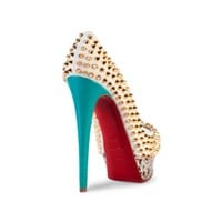 CHRISTIAN LOUBOUTIN LADY PEEP SPIKES 150 SHOES