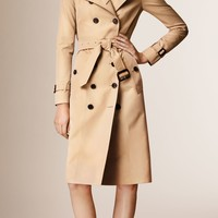 The Sandringham – Extra-long Heritage Trench Coat Honey | Burberry
