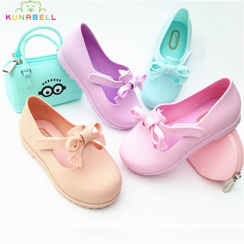 2016 New Girls Shoes Children Single Melissa Shoes Kids Causal Spring Summer Sneakers Toddlers Girls Fashion Shoes C216