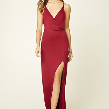 Surplice Front Maxi Dress