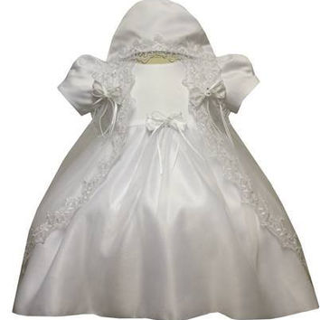 Baby Girl Toddler Christening Baptism Dress Gowns outfit set with bonnet /XS/S/M/L/XL/0-3M/3-6M/6-12M/12-18M/18-24M/XSMALL/SMALL/MEDIUM/LARGE/XL/2t/#5421