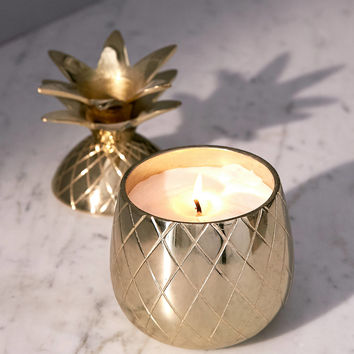 Volcanica Candles Gold Pineapple Candle | Urban Outfitters