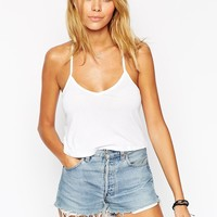 ASOS The Cropped Cami Top With Knotted Back