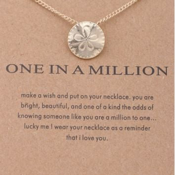 One in a Million Gold Sand Dollar Necklace