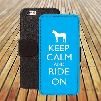keep calm Horse iphone 5/ 5s iphone 4/ 4s iPhone 6 6 Plus iphone 5C Wallet Case , iPhone 5 Case, Cover, Cases colorful pattern L037