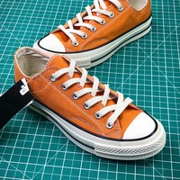 Converse Chuck Taylor All Star 1970s Orange Low Canvas Shoes - Best Online Sale