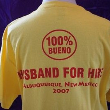 Retro Eric Estrada Movie Memorabilia Authentic Husband for Hire Crew Shirts