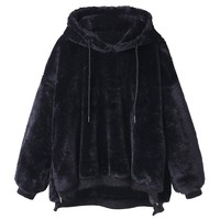 Fluffy Pullover Hoodie 3 Colors