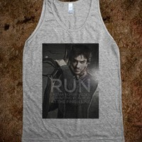 run like ian somerhalder is waiting for you at the finish line - burning red