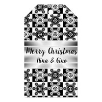 Monochromatic Snowflakes Gift Tags