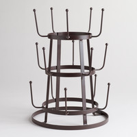 Wire 3-Tier Glass Drying Rack - World Market