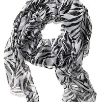 Banana Republic Factory Sheer Leaf Print Scarf Size One Size - White