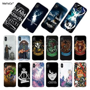 MaiYaCa Pretty interesting Harry Potter Coque Shell Phone Case for Apple iPhone 8 7 6 6S Plus X XS XR XSMAX