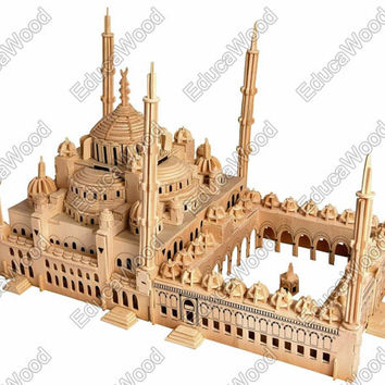 3D Wooden Puzzle - Sultan Ahmet Mosque - Blue Mosque Miniature Model