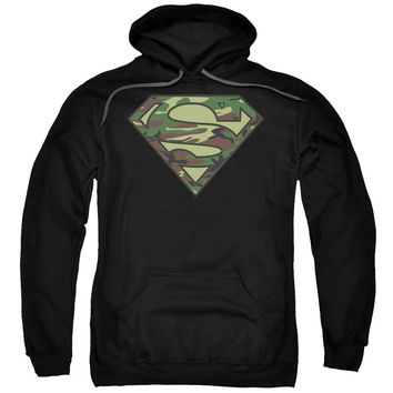 Superman - Camo Logo Adult Pull Over Hoodie Officially Licensed Apparel
