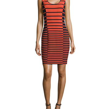 Halston Heritage SL Stripe Tank Dress