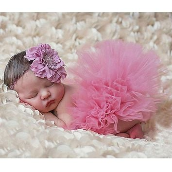 Infant Baby Newborn Photography Props Costume Photo Props For Baby Photography Accessories Pink Tutu Skirts Set
