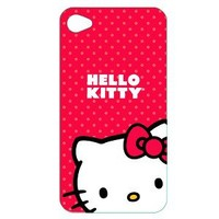 Hello Kitty Polycarbonate Wrap for iPhone® 4 - Red/ White (KT4488R4)