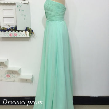 Mint Bridesmaid Dress, Cheap Bridesmaid Dress Under 90, Bridesmaid Dress, Modest Bridesmaid Dress, Elegant Mint Prom Homecoming Dress 2014