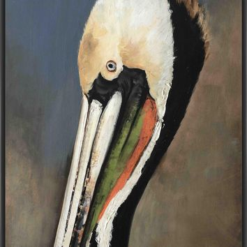 PELICAN BAY 22L X 28H Floater Framed Art Giclee Wrapped Canvas