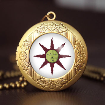 Shop sun locket on wanelo dark souls solaire of astora sun symbol yaranaika pendant locket dark souls solaire of astora sun aloadofball Choice Image