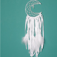 Creative White Feather Moon Crawlers Natural Crystal Crazy Moon Feather Hunts Home Decor