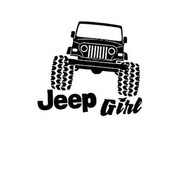 Jeep Girl Car Decal Jeep Life Car Decal Jeep Car Window Decal