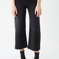LMF4XG BDG Cropped Denim Culotte - Washed Black | Urban Outfitters